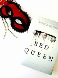 schless doesnt even need a description it is a must read book red queen by victoria aveyard a mask is there for symbolism and its there bc its red