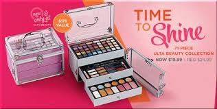if you are a makeup junkie like i am you will love this 71 piece time to shine makeup kit from ulta a 175 value you can grab it right now for only