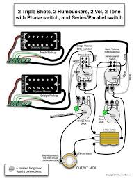 wiring diagrams for electric guitars the wiring diagram seymour duncan wiring diagram 2 triple shots 2 humbuckers 2 wiring diagram
