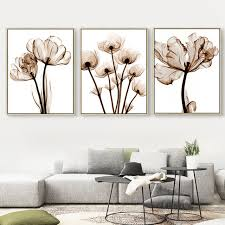peony canvas oil painting clear beautiful flower photo long stem floral picture wall art decoration home on beautiful wall art decor with peony canvas oil painting clear beautiful flower photo long stem