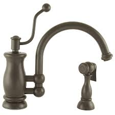 Rubbed Bronze Kitchen Faucet Shop Mico Designs Seashore Oil Rubbed Bronze 1 Handle High Arc