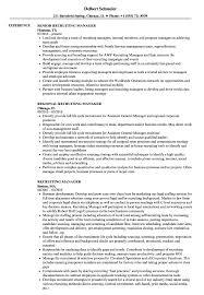 Recruiting Manager Resume Recruiting Manager Resume Samples Velvet Jobs 1