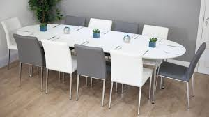 square dining room table for 8 decor color ideas on sober white oval dining table modern