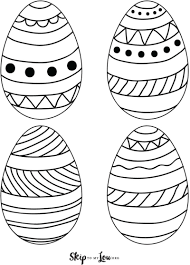Download free easter egg coloring pages and sheets along with easter activity worksheet. Easter Egg Templates For Fun Easter Crafts Skip To My Lou
