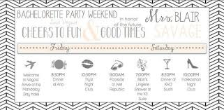 Party Agenda Sample Classy Bachelorette Party Timeline Party Agenda Hostess Idea