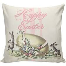 easter pillows bunny pillows easter decor burlap pillow cover