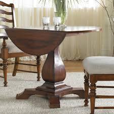 furniture waverly place 42 in drop leaf pedestal table hayneedle