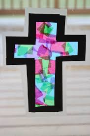 kara 039 s creative place stained glass tissue paper cross pertaining to