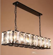 modern large rectangular crystal lamp living room led chandelier for restaurant cafe long crystal bar lamp shade led lights llfa flower chandelier