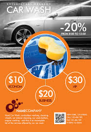 Steam Car Wash Flyer Template Downlosd Our New Premium For Your ...
