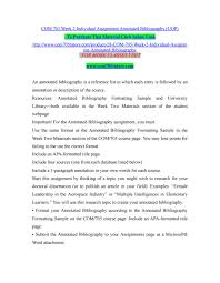Com 705 Week 2 Individual Assignment Annotated Bibliography Uop By