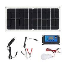 Solar Charging Light 10w 12v 5v Usb Solar Panel Power System Battery Charger Generator Led Light Bulb W 10a Controller