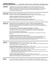 Sample Electrical Engineering Resume Objective Save Engineering