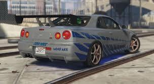 nissan skyline r34 paul walker. Interesting Paul Nissan Skyline R34 Paul Walker Fast And Furious Paintjob  GTA5Modscom For 0