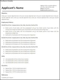 free sample resume template resume templates free download for microsoft word templates