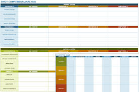 Competitive Analysis Matrix Template What Competitor Analysis Template Can Do For You Printable