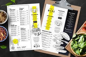Restaurant Menu Template A4 Food Menu Templates For Restaurants In Psd Ai Vector