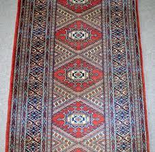 20th century vintage belgian wool jacquard machine woven rug or runner for