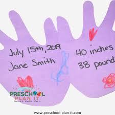 Preschool Weight Chart All About Me Preschool Activities Theme