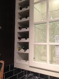 Wine rack built-in next to kitchen cabinets c/o IKEA | Kitchen .