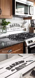 40 Frugal And Creative Kitchen Backsplash DIY Projects Pallet Extraordinary Wood Stove Backsplash Creative