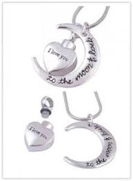 image is loading moon with heart necklace for pet dog ashes