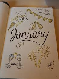 january bullet journal cover page idea