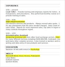 Duties Of A Sales Associate Magnificent Sample Resume Retail Retail Duties Resume Sample Resume For Retail