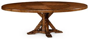 dining tables heavy distressed parquet round to oval dining table