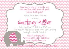 printable baby shower invitation templates for a girl template baby elephant chevron pink baby shower flyer baby shower
