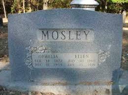 MOSLEY, OPHELIA - Cleveland County, Arkansas   OPHELIA MOSLEY ...