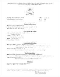 High School Academic Resume Template Metabots Co