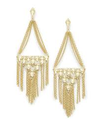 mandy statement earrings in gold