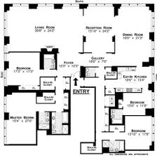 Above is a sample of full floor New York 5 bedroom / 5.5 bathrooms floor  plan, with private elevator landing. This apartment has a large living  room, ...
