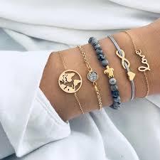 5pcs/Sets Boho Handmade Weaving Turtle <b>Letter Love</b> Bracelet Set ...