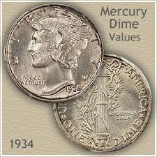 Us Dime Value Chart 1934 Dime Value Discover Your Mercury Head Dime Worth