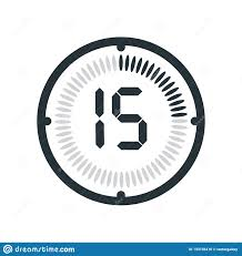 Timer Fifteen Minutes The 15 Minutes Icon Isolated On White Background Clock And