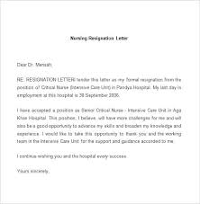 Examples Of Resign Letters Staff Nurse Resignation Letter Images Letter Format Formal Sample