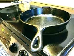 glass top stove cast iron skillet on why cooktop can you use lodge