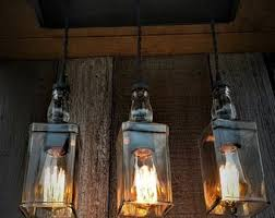 Industrial home lighting Bulb Industrial Triple Whiskey Pendant Lighting With Canopy Edison Lighting Industrial Lighting Whiskey Bottle Lighting Home Decor Upcycled Etsy Industrial Lighting Etsy
