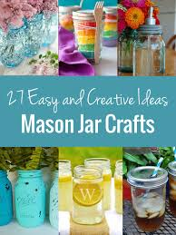 Decorating Mason Jars For Drinking Mason Jar Crafts A List Of 100 Easy And Creative Ideas 5