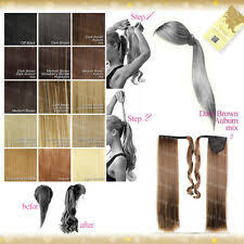<b>Ponytail</b> Long <b>Straight</b> Hair Extensions for sale | eBay