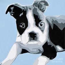boston terrier painting boston terrier by slade roberts