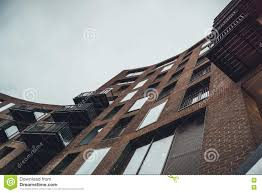 Modern Apartment Building With Curved Facade Stock Photo Image - Modern apartment building facade