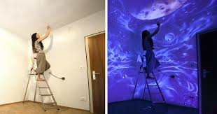 glow in the dark paint for wallsWhen The Lights Go Out My Glowing Murals Turn These Rooms Into