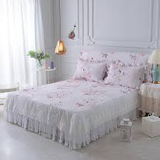 girls bed skirt. Wonderful Girls 35pcs Lace Princess Bed Skirts Set Pillowcases Flower KingQueenFull On Girls Skirt