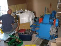 microhydro ac water power systems wiring the 75 kw generator coupled to 60 kw turbine hydraulic controls on spear valve