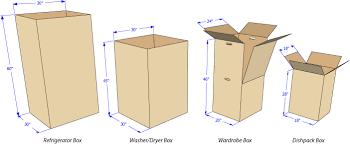 refrigerator box. standard box dimensions refrigerator u