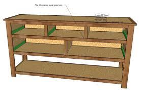 Dresser Drawer Shelves Ana White Dresser With Open Bottom Shelf Diy Projects