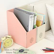 Wholesale Magazine Holders Magazine File Box A Leather Wooden Office Desk File Document Tray 99